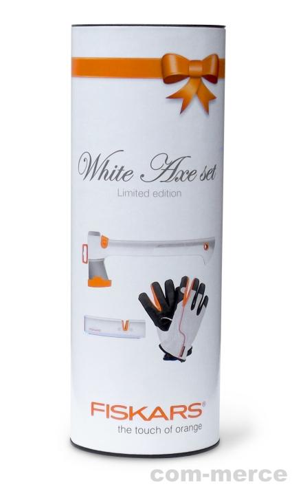 fiskars axt sch rfer handschuhe white axe set limited edition set kaufen bei. Black Bedroom Furniture Sets. Home Design Ideas