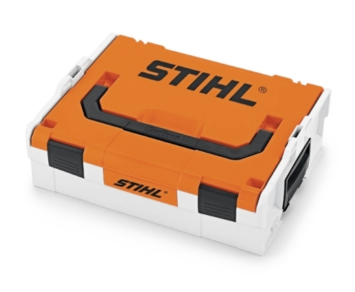 stihl akku box akkutragetasche tragebox aufbewahrungsbox 8815605 ebay. Black Bedroom Furniture Sets. Home Design Ideas